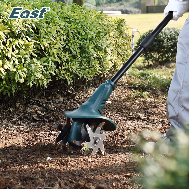 East Garden Power Tool Professional 18V Tiller Garden Rotary Hoe Tine Mini Cultivator Pro Machine Cordless Tools ET1401