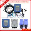 Портативный настенный ультразвуковой расходомер типа TUF-2000B маленький размер TS-2 датчик DN25mm-100mm ультразвуковой расходомер жидкости