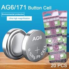 20 шт. 1,55 в 10 мАч AG6 батарейки 371A 3X69 LR920W литиевая батарея для игрушек калькулятор лазерная указка