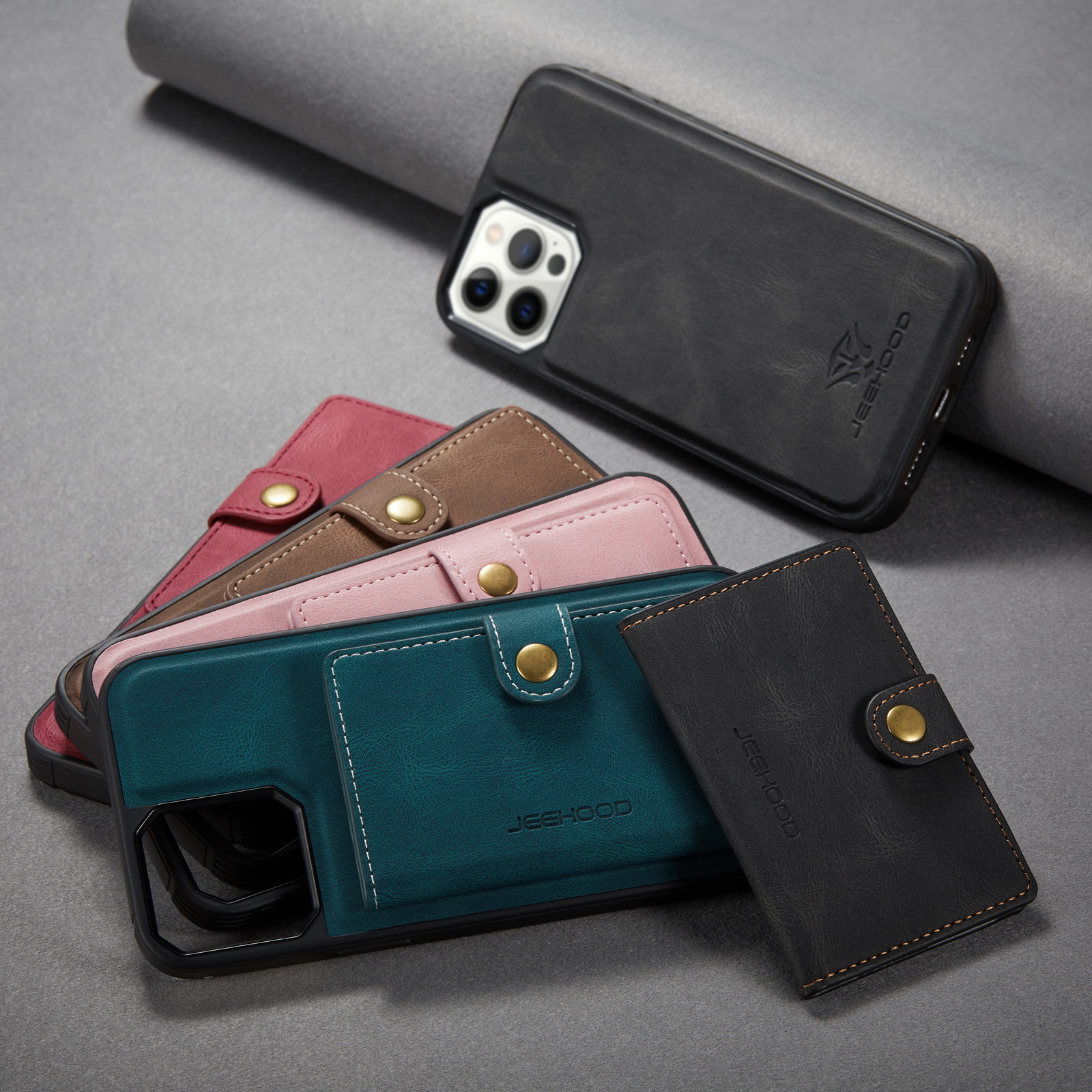 Leather Magnetic Card Slot Pocket Phone Case For iPhone