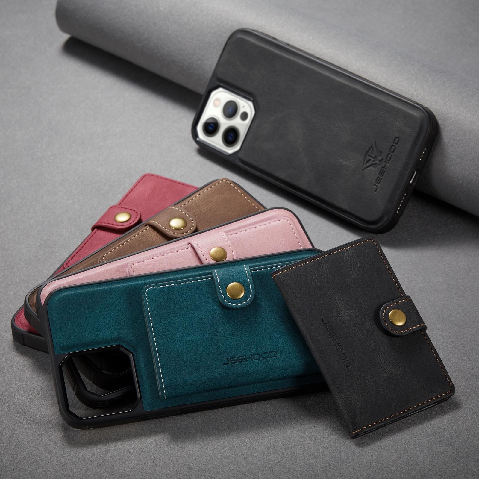 Hced5ebe7942c4439895b8361c8aa6d8fd Capinha case Capa traseira para o iphone 12 11 pro max xs xr x se 2020 8 7 plus caso do telefone com suporte de cartão de couro magnético destacável carteira saco