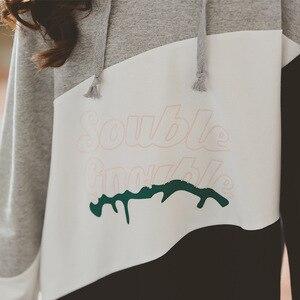 Image 5 - 여자 긴팔 후드 드레스 새로운 스타일 2019 가을 새로운 어린이 패치 워크 드레스 히트 컬러 메쉬 원사 프로 베이비 드레스, #8005