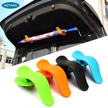 1Pair Universal Trunk Umbrella Holder Fastener With Screws Mounting Bracket For Umbrella Car Styling Auto  Interior Accessories