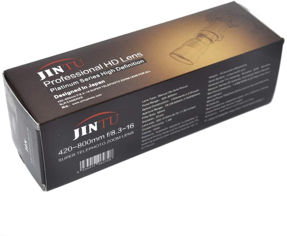 Jintu 420 800mm f/83 руководство телеобъектив для sony a7r a7s