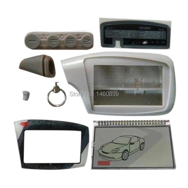 Keychain גוף מקרה + LCD תצוגה עבור רוסית שר-חאן Magicar 5 6 רכב מעורר מערכת LCD שלט רחוק שר חאן R300 902 903F