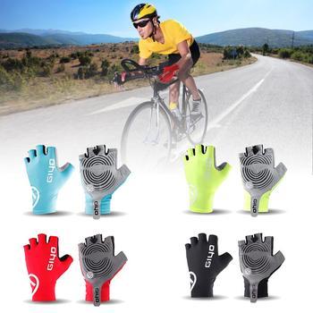 Guantes de ciclismo de medio dedo antideslizantes, almohadilla de Gel, absorción de...