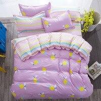 Anguria ananas serie pera Comfort di alta qualità King Queen Kids Plaid Bed set copripiumino lenzuolo federe