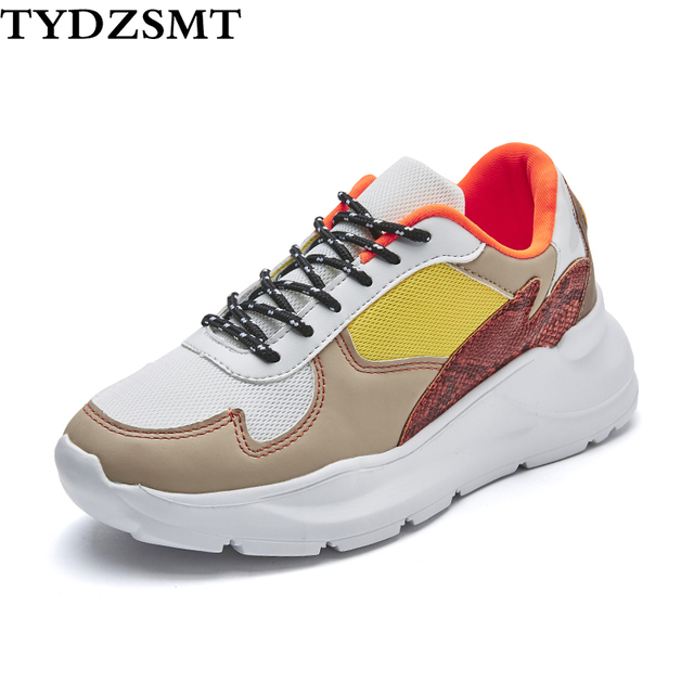 TYDZSMT Womens Sneakers Shoes 2020 Fashion Patchwork Light Weight Casual Shoes Women Spring/Autumn White Shoes Zapatos Mujer