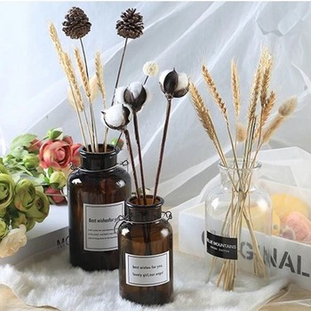 Ins Style Nordic Vases for Flowers Glass Vase Living Room Decoration Home Decoration Accessories 1
