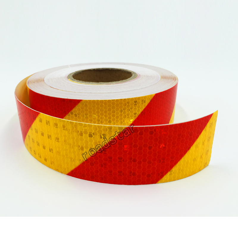 5cmx3M Twill Shiny Reflective Warning Tape Traffic  Construction Site Reflective Sign Sticker