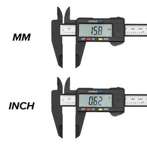 Image 4 - Vastar 150mm 100mm 6 Cal elektryczna suwmiarka cyfrowa noniusz z włókna węglowego suwmiarka pomiar mikrometryczny narzędzie cyfrowy linijka