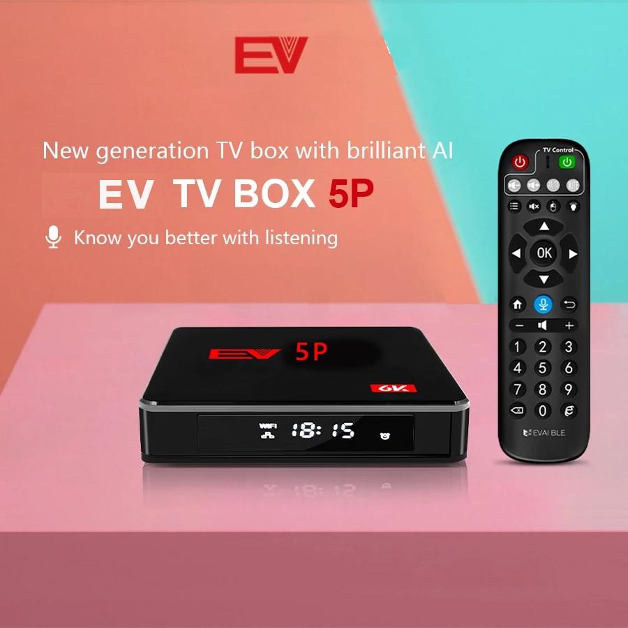 Новейшая Смарт ТВ-приставка EVBOX 5P, EVPAD, EV 5S AI, голосовое управление для Кореи, Японии, SG, MY CA, США, Таиланда, Филиппин, вьетнамского рынка