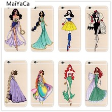 MaiYaCa Elsa Anna Mermaid Princess Snow White Phone Cases for iPhone 5S 6S 7 8 PLUS XR XS Max Case Crystal Clear Soft TPU Cover(China)