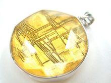 Genuine Natural Gibeon Iron Meteorite Gold Plated Pendant 18mm STAR OF DAVID Women Men Moldavite Rare Necklace AAAAA