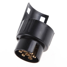 12V Plastic Trailer Adapter Connector 7 Pin To 13 Pin Caravan Electrical Converter Adaptor Towbar Towing Socket(China)