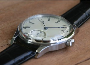 Image 5 - 44mm GEERVO convex mirror white dial Asian 6497 17 jewels Mechanical Hand Wind movement mens watch Mechanical watches gr314 g8