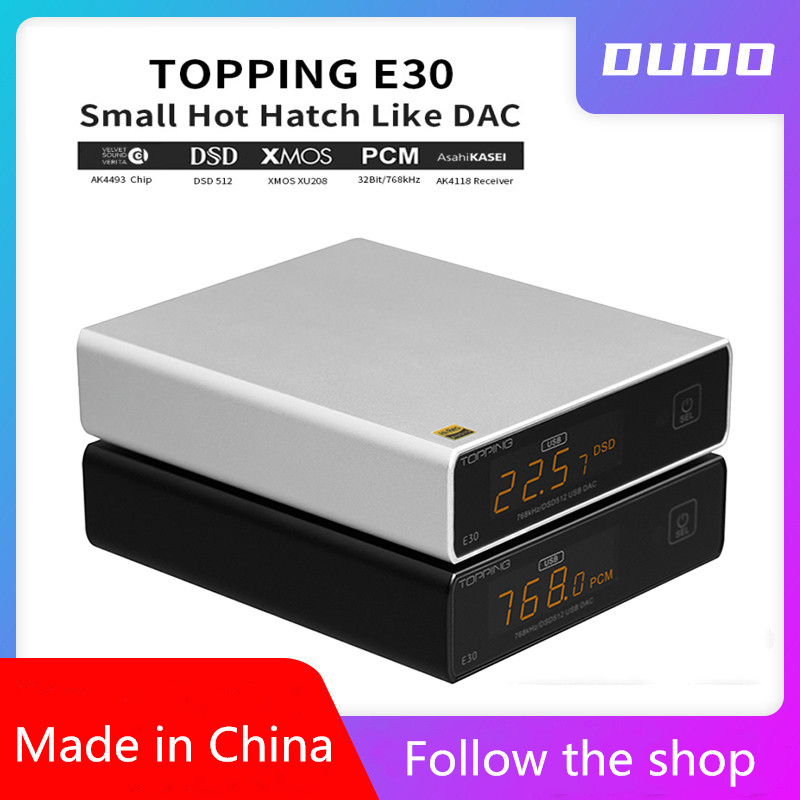 TOPPING E30 HIFI XMOS XU208 <font><b>USB</b></font> <font><b>DAC</b></font> AK4493 E30 32bit/768k DSD512 Hi-Res AUDIOwith Remote control COAX OPTICAL DSD with L30 image
