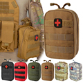 Аптечка первой помощи для кемпинга, Военная Тактическая медицинская поясная сумка, сумка из ткани «Оксфорд» для экстренного отдыха, путеше...