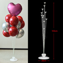 Wedding Decoration 11Tubes Balloon Holder Column Balloons Stand Metallic Kids Birthday Party To Celebrate