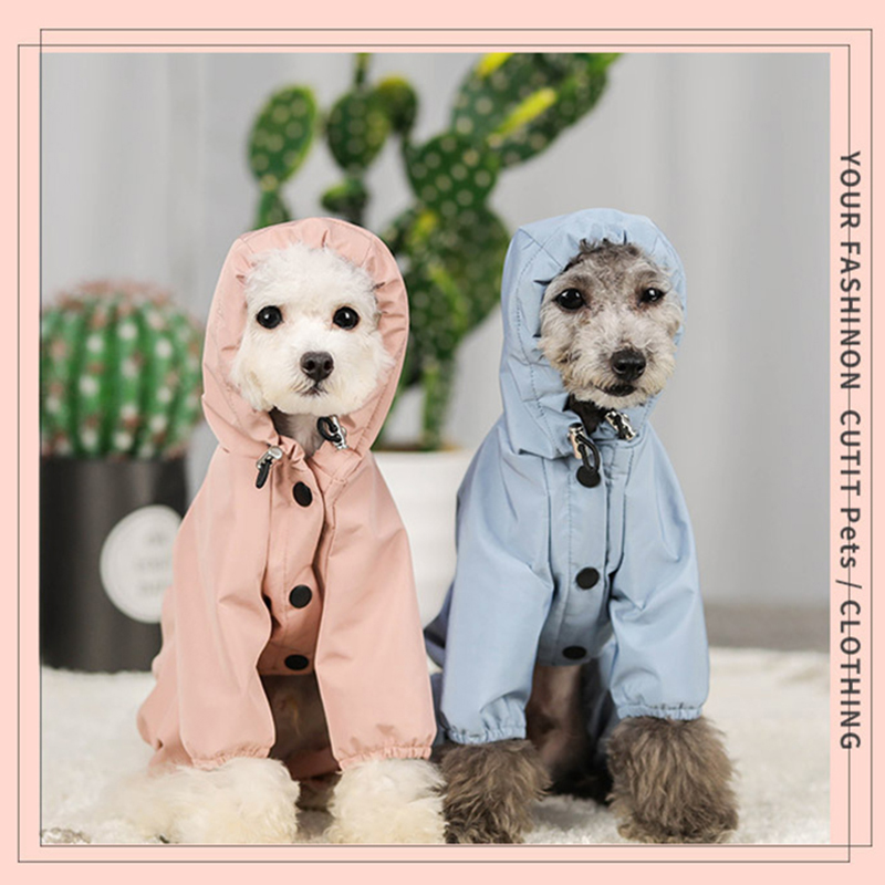 Dog Raincoat Rain Coat Clothes for Dogs and Cats for large dogs