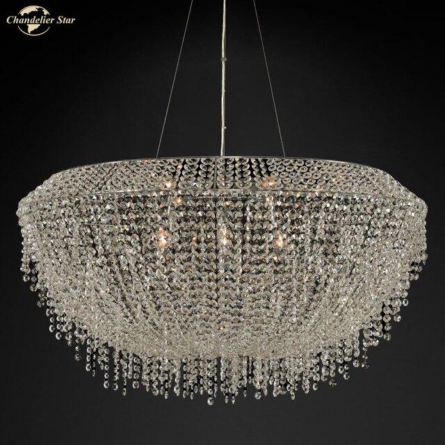 Фото современные роскошные хрустальные люстры k9 освещение для гостиной