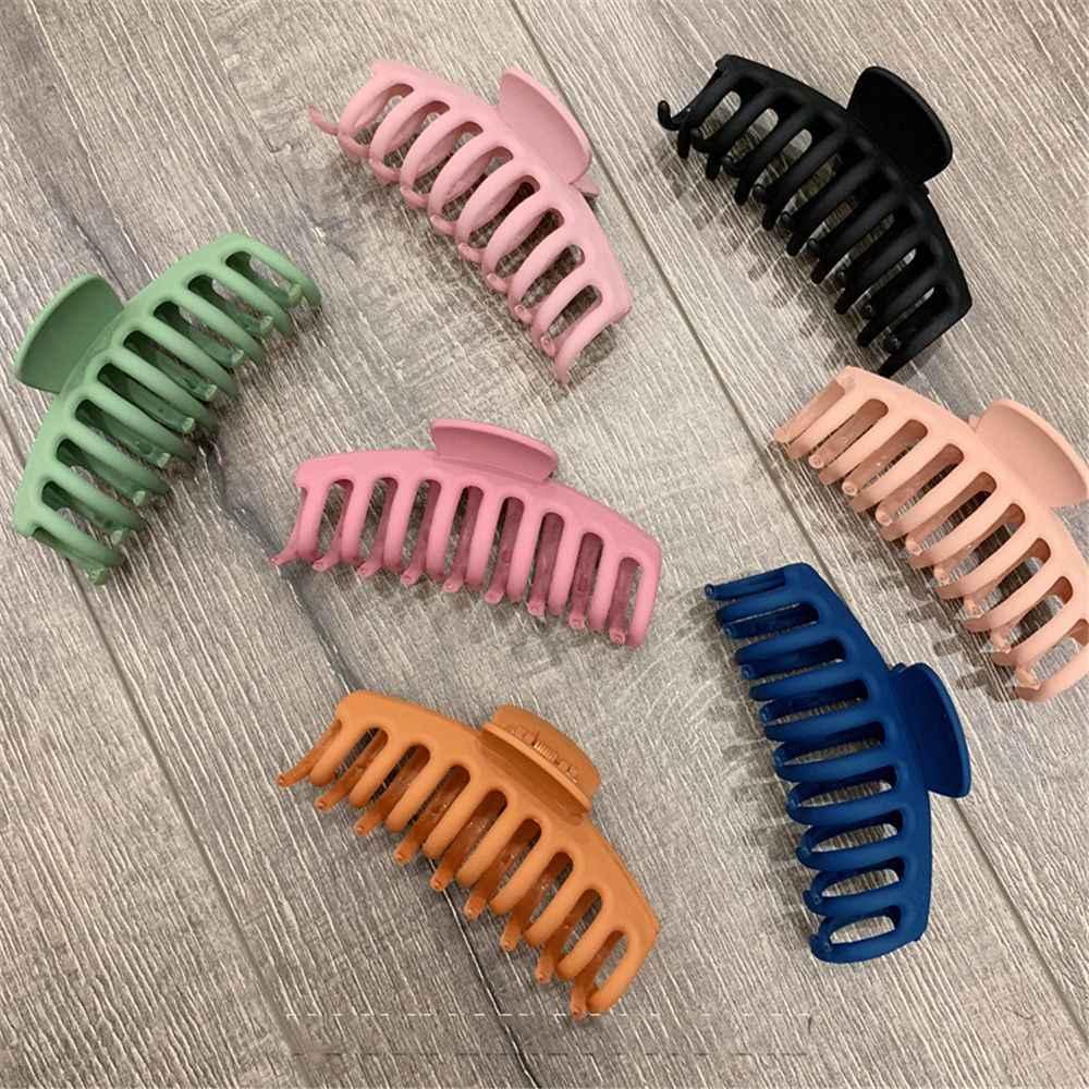 1 ud. Pinzas de pelo acrílico coreanas sólidas grandes para cabello pinzas de pelo acrílico elegante glaseado horquillas con pasador sombreros para mujeres niñas accesorios para el cabello
