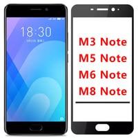 Protector de cristal para el Meizu M6 nota protectora de vidrio en Maisie M5 M3 M8 no templado Protector de pantalla de cristal M 3 5 6 8 de 3 m y 5 m, 6m 8m 9h