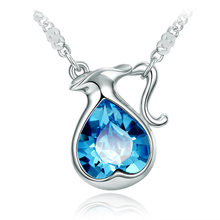 New Fashion Short Women S Mothers Day Gift Joker Crystal Twelve Constellation Necklace Jewelry Jewellery Gioielli I Love You(China)