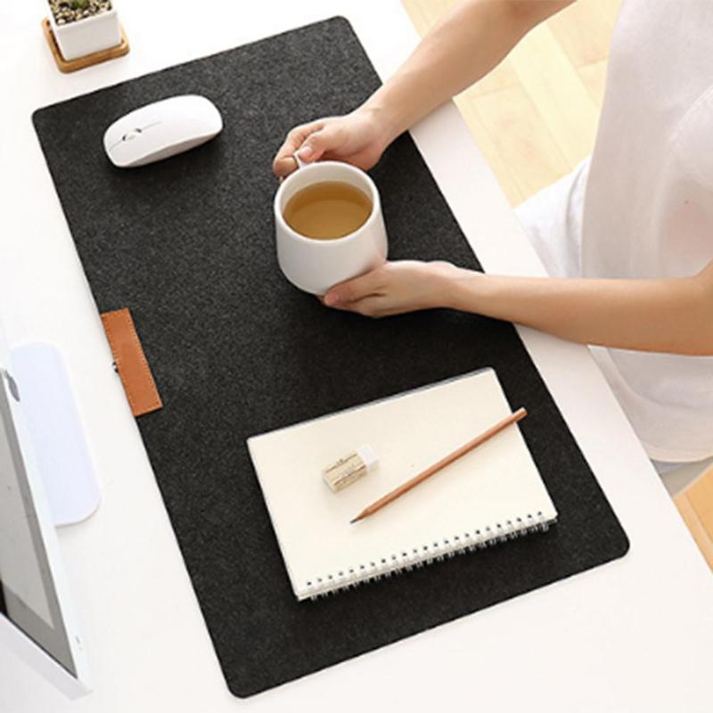 Large Office Computer Desk Mat Modern Table Keyboard Mouse Pad Wool Felt Laptop Cushion Desk Mat Gamer Mousepad Mats 60/70x33cm