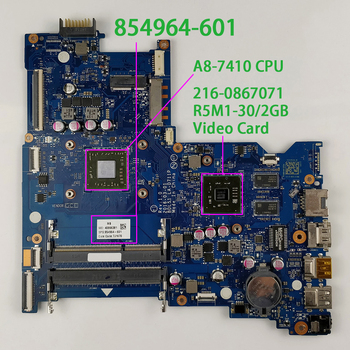 цена на 854964-601 854964-001 w R5M1-30/2GB Graphics w A8-7410 CPU for HP Envy 15 15-BA Series NoteBook PC Laptop Motherboard Tested