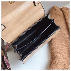 Image 5 - 2019 New Brand Women Leather Handbags Famous Luxury Designer Contrast Color Fashion Shoulder Bags Female Crossbody Purses Bolsas