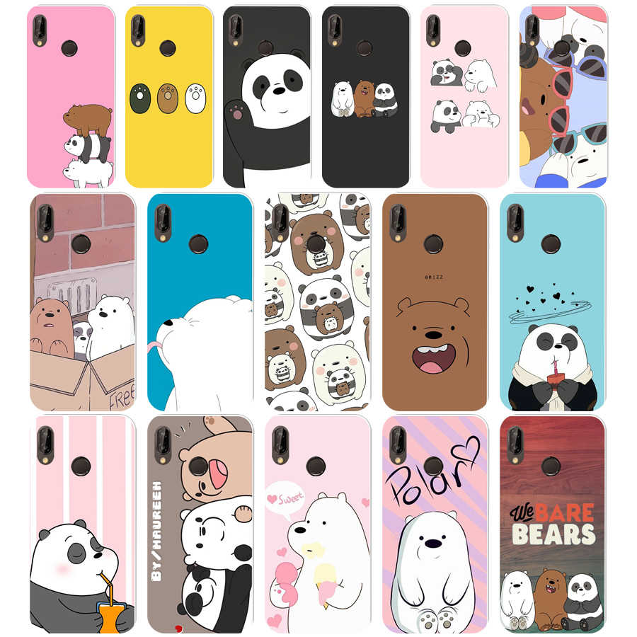 402WE we bare bears Soft Silicone Tpu Cover Case for  Honor 10 huawei p 10 20 30 lite y5 2018 p30 Pro mate 10 20 lite