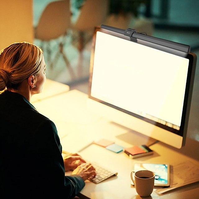 อลูมิเนียมUSBโคมไฟตั้งโต๊ะLed Monitor Nonริบหรี่ 5Vคอมพิวเตอร์หน้าจอป้องกันOfficeทนทาน 5Wปรับ