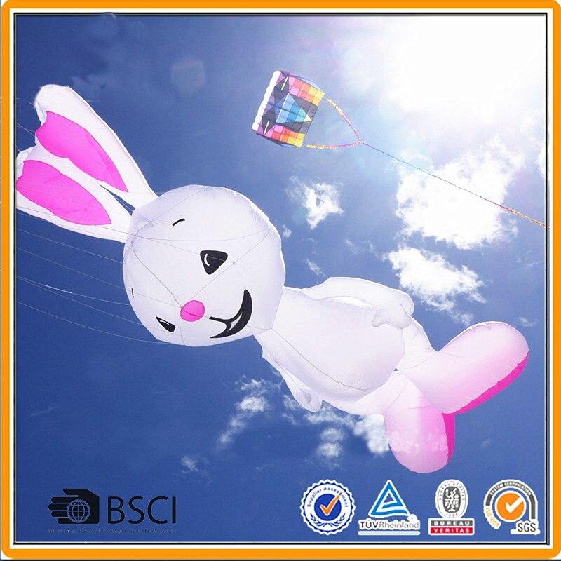 Livraison gratuite 5m lapin cerf-volant 3D dessin animé doux cerfs-volants ripstop nylon jouets de plein air pendentif animal cerf-volant roue pieuvre cerf-volant usine