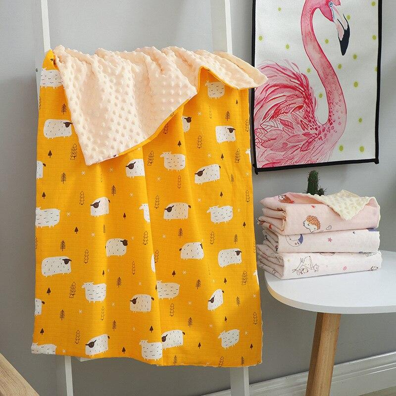 Baby Blanket & Swaddling Newborn Muslin Gauze Baby Soothing Blanket Children Blanket  Bedding Set Cotton Quilt