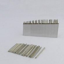 1 conjunto (24 peças) fio de traste de liga de níquel-cobre para peças de baixo de guitarra e acessórios 2.0mm/2.2mm/2.4mm/2.7mm/2.9mm