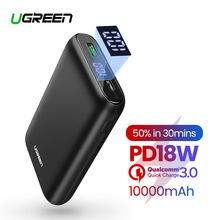 Ugreen 10000mAh PD QC3.0 Power Bank External Battey Charger for iPhone 11 Portable Mobile Phone Powerbank Mini Poverbank