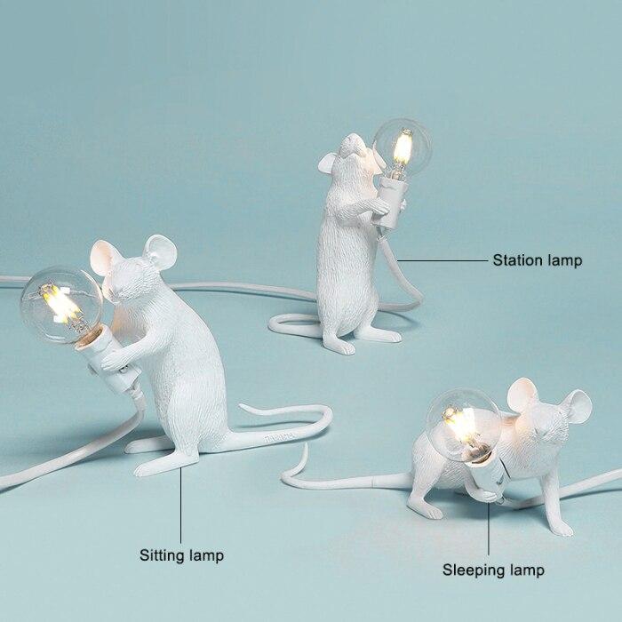Candeeiro de mesa em forma de rato
