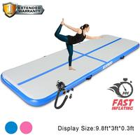 Inflatable Gymnastics 3M 4M 5M Tumbling Air Track Floor Trampoline for Girl birthday Gift Home Use/Training/Cheerleading/Beach