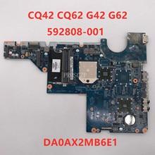 Gratis verzending Voor CQ42 CQ62 G42 G62 CQ56 G56 Laptop moederbord 592808-001 592808-501 592808-601 DA0AX2MB6E1 100% workig goed