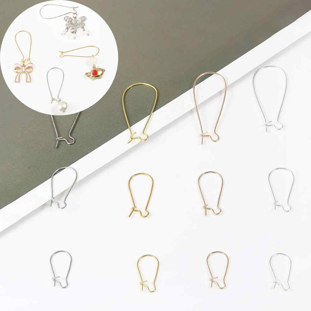100pcs/Lot 9x18mm/11x25mm/16x38mm Silver/Bronze/Rhodium/Gold Plated Earring hooks Earring Ear Wires Findings DIY Jewelry Making