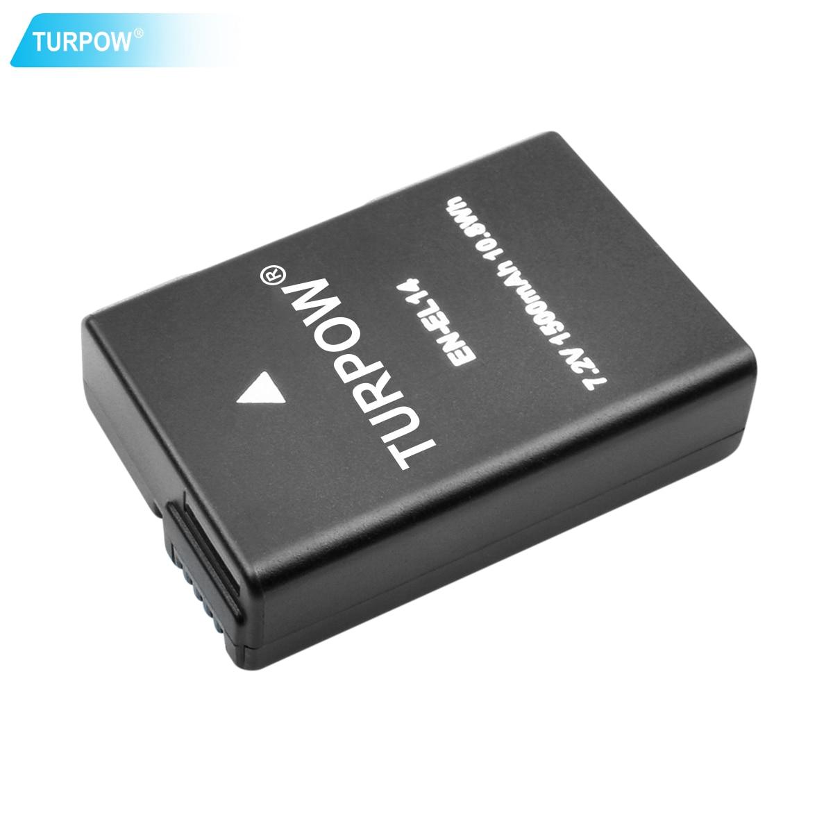 Turpow EN-EL14 EN EL14 EN-EL14a ENEL14 EL14a batería + cargador USB LCD repla para cámara Nikon P7800, P7700, P7100, P7000, D550