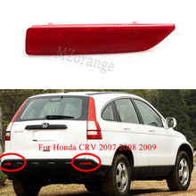 For Honda CRV 2007 2008 2009 Rear Bumper Reflector light Red False Light Brake Lamp Decorative Lights High Quality цена 2017