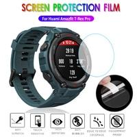 Película protectora de vidrio templado HD 9H para reloj inteligente Xiaomi Huami Amazfit t-rex/Pro, Protector de pantalla de reloj inteligente a prueba de explosiones