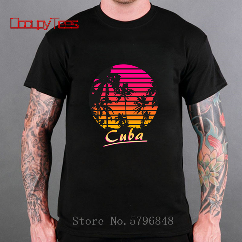 3D 80s 90s Cuba Summer Pure Cotton Mens Hawaiian T Shirt Printed Short Sleeve Big Us Size Hawaii Men Beach Style tourist Shirts image