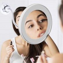 LED Makeup Lamp Mirror Magnifier Wall Lamp Vanity Mirror 360 Degree Rotation 10X Magnifying Glass Mirror