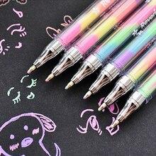 Korean Stationery Pen-Marker Highlighter Cute 6-Colors New 6pcs Ink Design