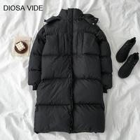 Hooded Long Women's Winter Down Jacket Long Sleeve Plus Thick Oversized Coats Female Warm Fashion 2019 Tide Outswear