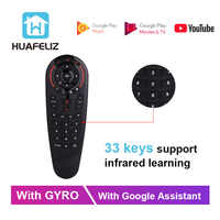 G30 Voice Remote Control 2.4G Wireless Air Mouse Microphone Gyroscope 33 Keys IR Learning for Game Android Tv Box x96 PK G20 G10
