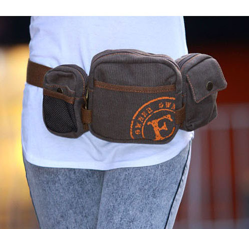 Men Wallet Chest Pack Sports Waist Pack Casual Small Wallet Travel Mobile Phone Bag Canvas Men's Bag Cool GIRL'S Oblique Bag
